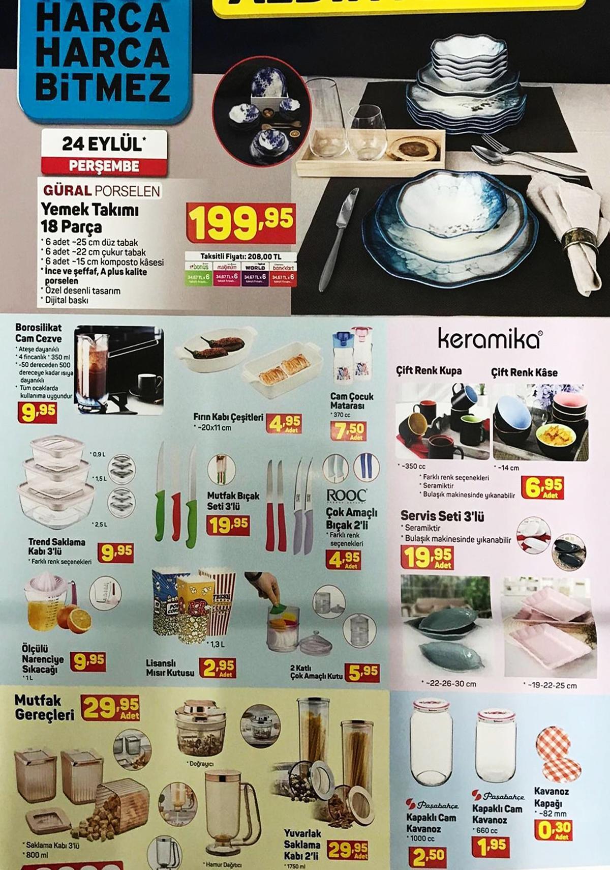 A101 24 Eylül 2020 Aktüel İndirimli Ürünler Kataloğu