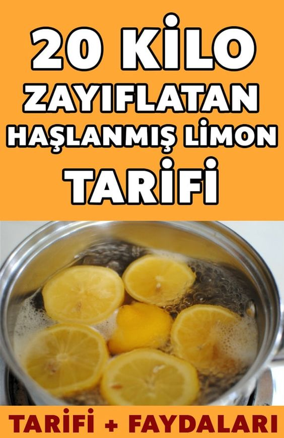 20 Kilo Verdiren Haşlanmış Limon Tarifi