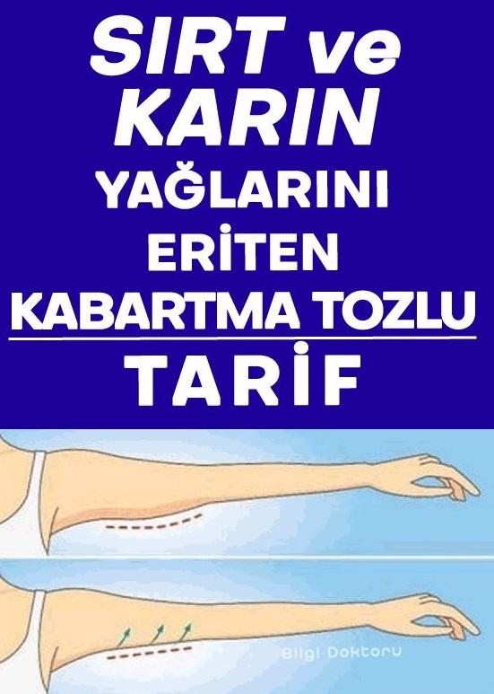 Sırt ve Karın Yağlarını Eriten Kabartma Tozlu Tarif