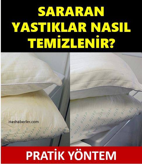 Sararan yastıklar nasıl temizlenir işte kolay yöntem
