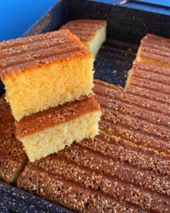 Zerdeçallı Vanilyalı Sünger Kek