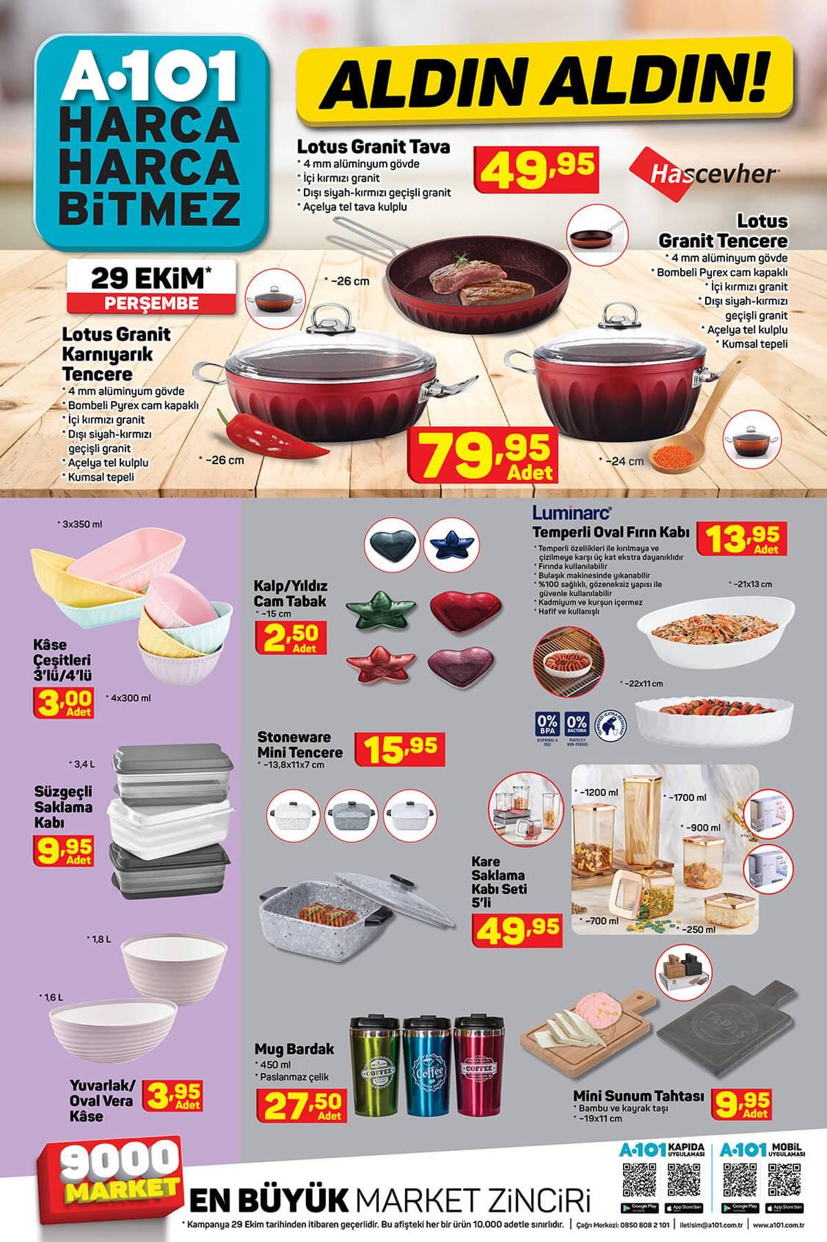 A101 30 Ekim 2020 Aktüel İndirimli Ürünler Kataloğu YENİ