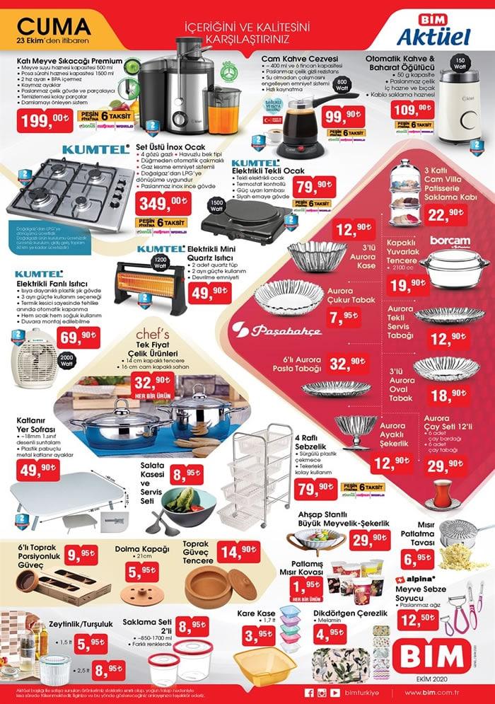 BİM Market 23 Ekim 2020 Cuma İNDİRİMLİ Aktüel Kataloğu