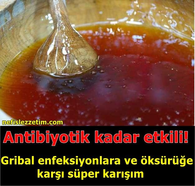 Antibiyotik kadar etkili! Gribal enfeksiyonlara ve öksürüğe karşı süper karışım