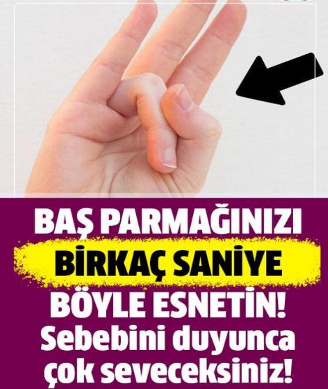 Başparmağınızla yüzük parmağınızı birkaç saniyeliğine böyle esnetin. Sebebini ise çok seveceksiniz!
