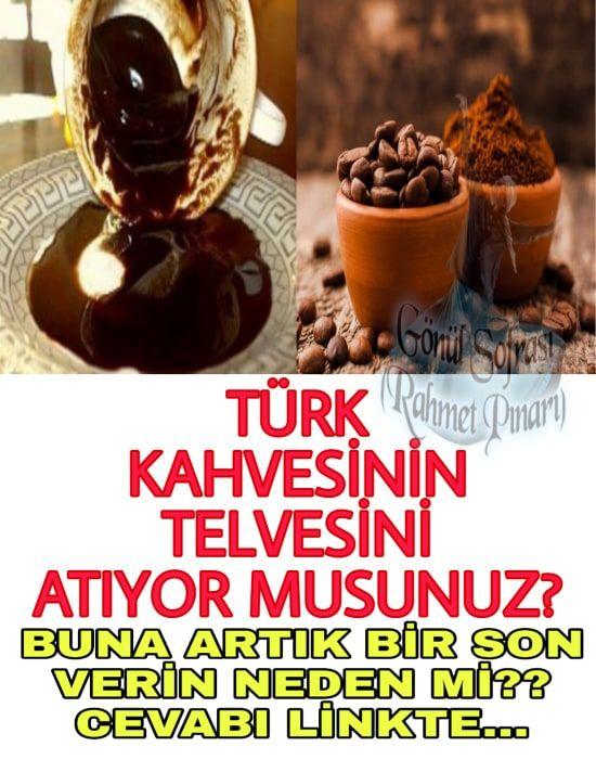 Türk kahvesi keyfi yaptıktan sonra telvesini döküyor musunuz