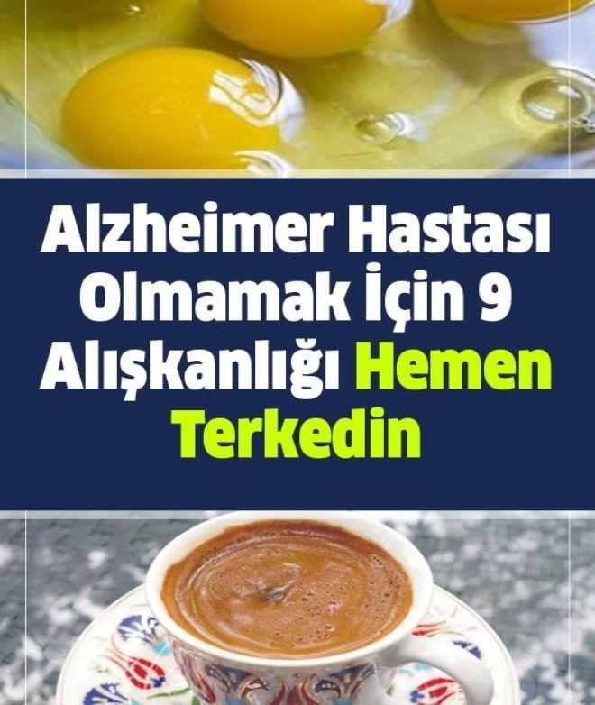 Alzheimer Hastası Olmamak İçin 9 Alışkanlığı Hemen Terkedin