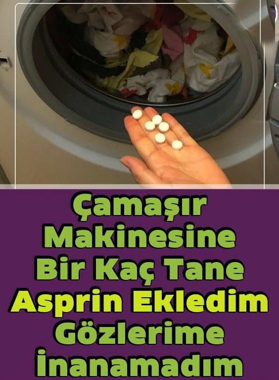 Çamaşır Makinesine Biraz Asprin Eklediğinizde Neler Olacağını Biliyor Musunuz?