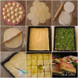 Nişastalı Ispanaklı Tepsi Böreği
